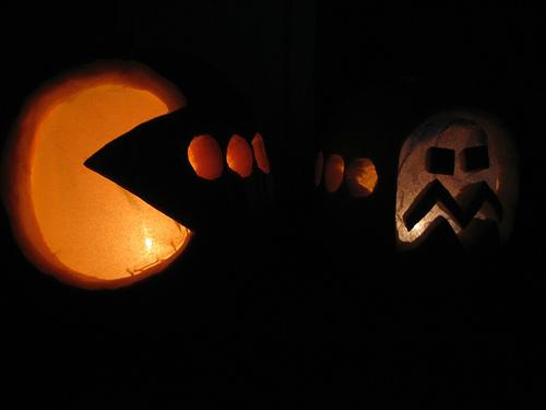 new pacman game pumpkin