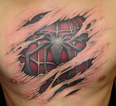 spiderman-chest-tattoo. Have Fun!