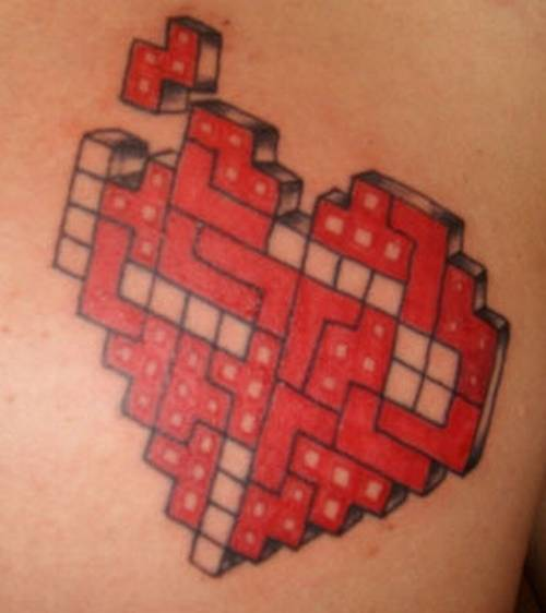 cool tetris tattoo. There is one game that every knows and has played