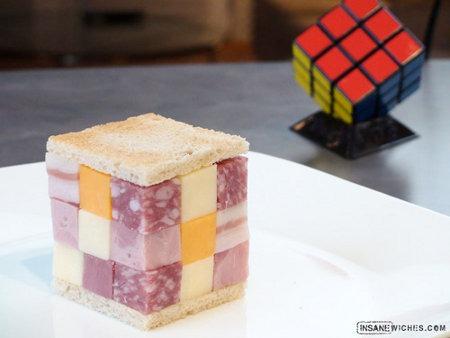rubiks cube sandwich Puzzle Delicacy: Rubiks Cube Sandwich