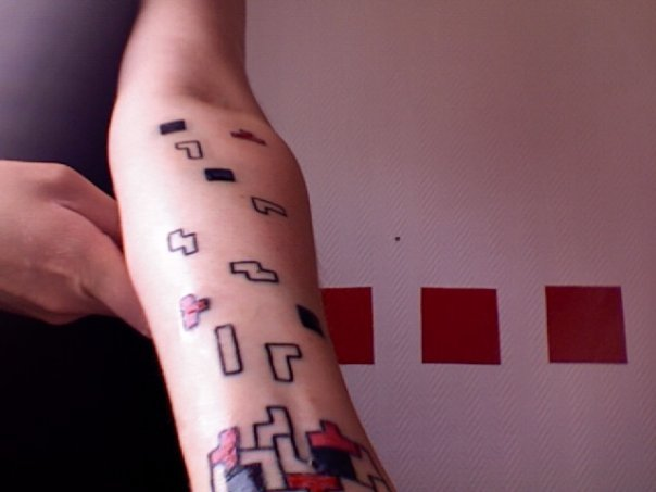 Cool Tetris Tattoo Blocked My Hand!