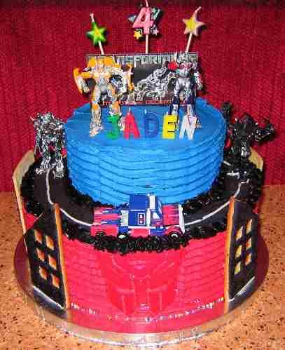 cool transformers cake design