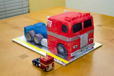 new optimus prime transformers cake