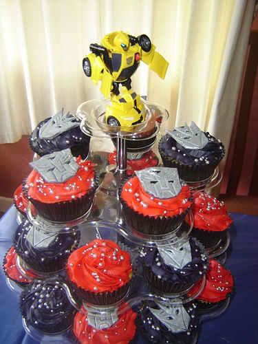 bumblebee transformer cupcakes design