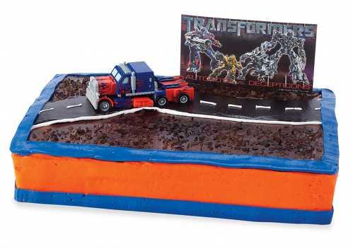 cool transformers cake