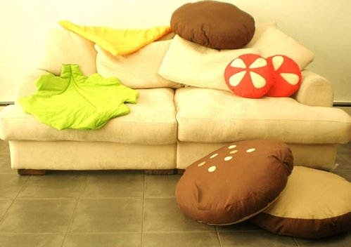 cheeseburger pillow cushions