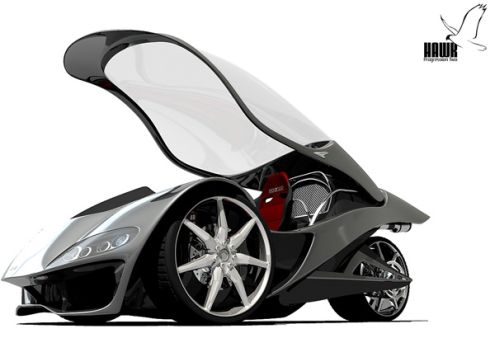 hawk 3 Hawk Conceptual Car Design by Alex Hodge