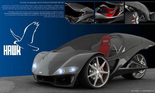 hawk concepts 2 Hawk Conceptual Car Design by Alex Hodge