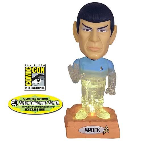 star trek spock holographic bobblehead