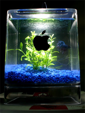 apple g4 computer fish tank mod