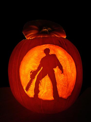 army of darkness pumpkin carving