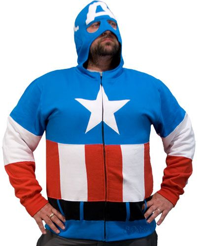 captain american costume hoodie