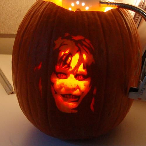 exorcist regan pumpkin face
