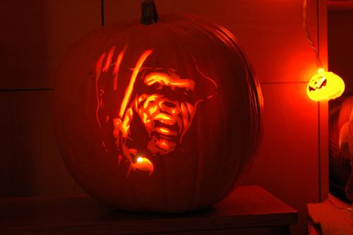 freddy krueger pumpkin face