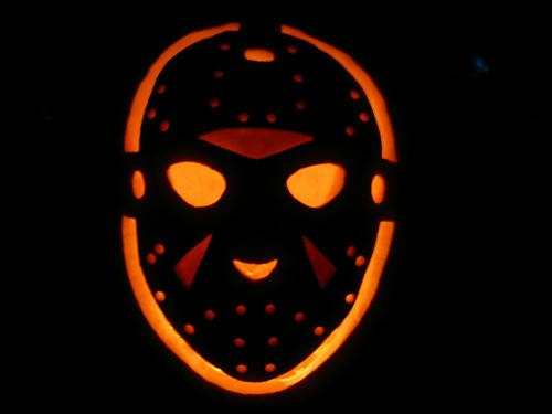 Jason Voorhees Hockey mask by Qwertyuiop lights up the doorway in a great