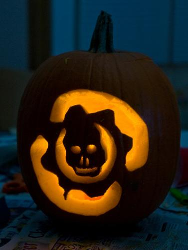gears of war logo pumpkin