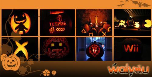 halloween pumpkins video game themes