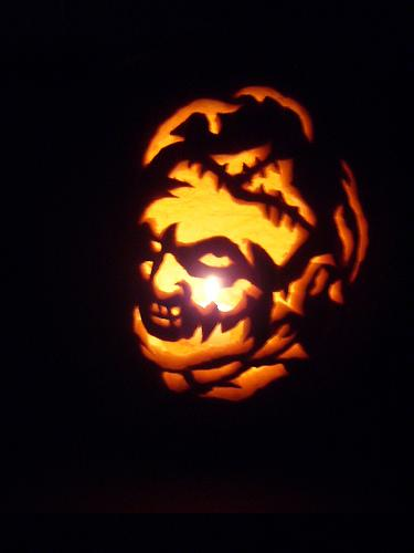 leatherface pumpkin face