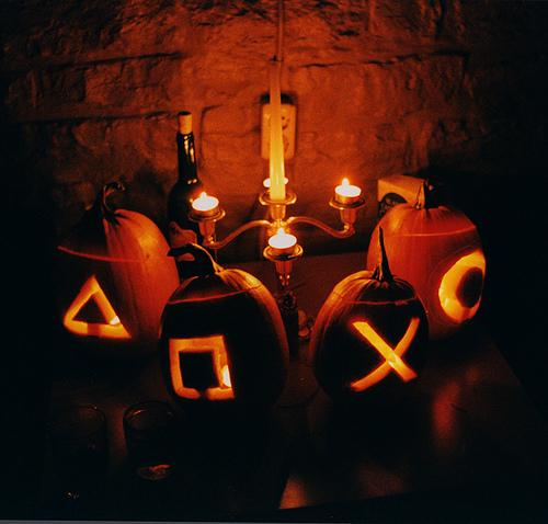 playstation controller buttons pumpkin carving