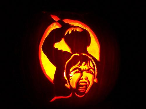 psycho shower scene pumpkin