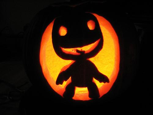 sackboy pumpkin face