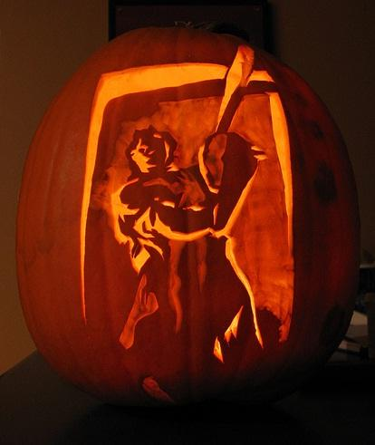 texas chainsaw massacre pumpkin