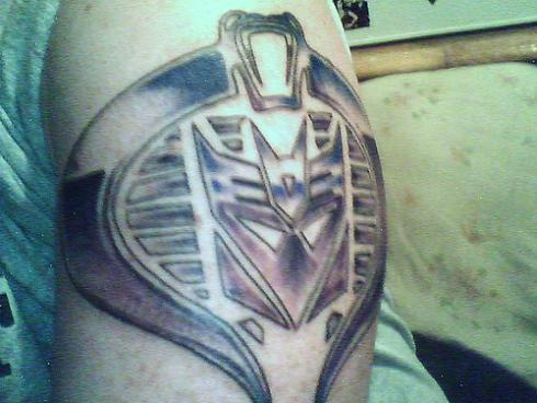 transformers tattoo with gi joe