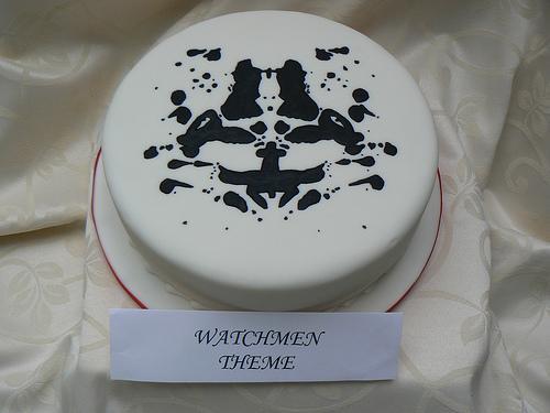 watchmen rorschach mask cake