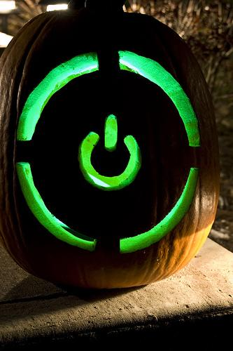 xbox 360 power pumpkin carving