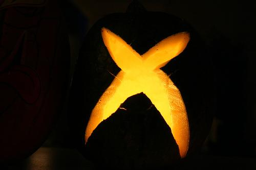 xbox logo pumpkin faces