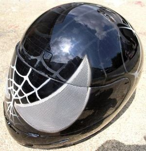 spiderman motorcycle helmet in black
