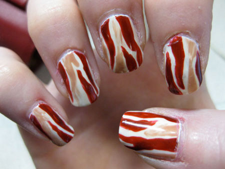 bacon fingernails design