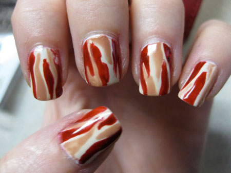 bacon nails design