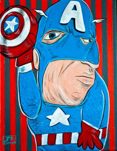 captain america picasso drawing