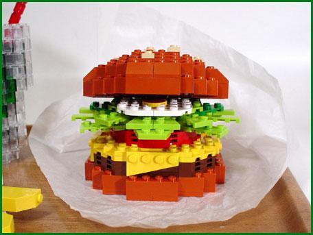 lego cheeseburger