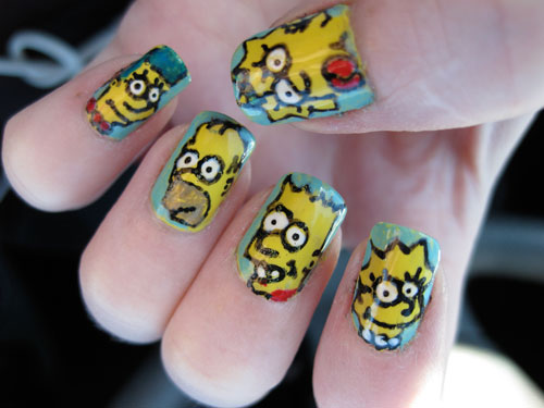 the simpsons nail design