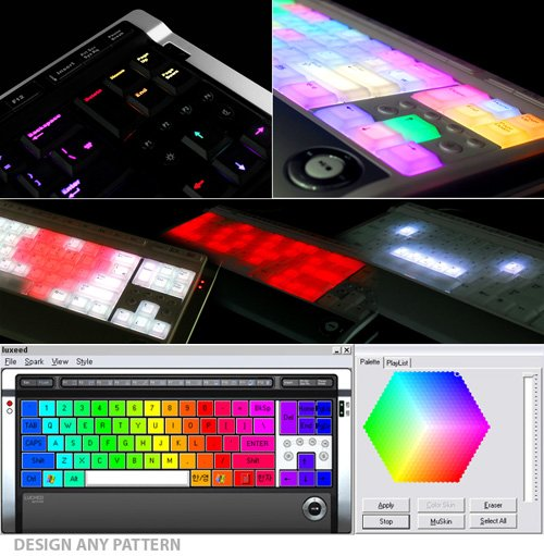 New Color Changing Luxeed U5 LED Keyboard5 The Colorful Luxeed U5 Dynamic Pixel LED Keyboard