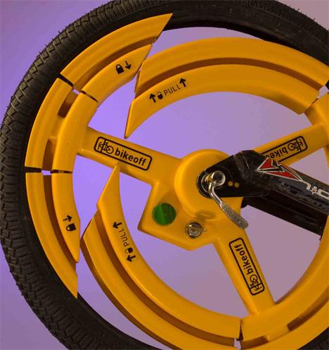 anti theft bike wheel design 16 Anti Theft Gadgets and Designs to Deter Thieves