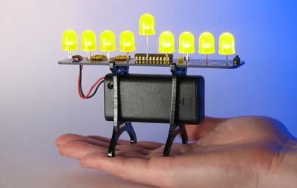 led cool menorah
