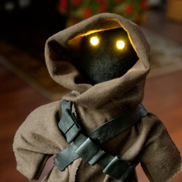 Star Wars Jawa Doll With Sparkling LED Eyes. December 21st, 2009 .