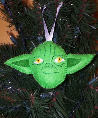 yoda felt ornament