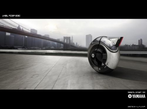 Wheel Rider 4 The Wheel Rider Concept is a Futuristic Personal Commuting Machine