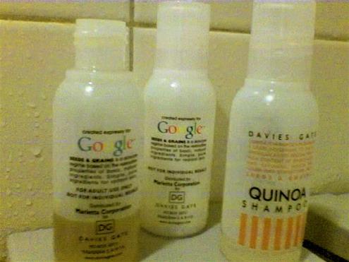 google toileteries shampoo محصولات غیر متعارف گوگل ، که تا حالا ندیده اید