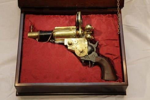 ¿Qué es el steampunk? Gun-handmade-steampunk