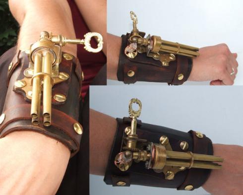 ¿Qué es el steampunk? Wearable-steampunk-wristgun