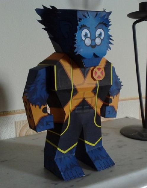marvel papercraft beast