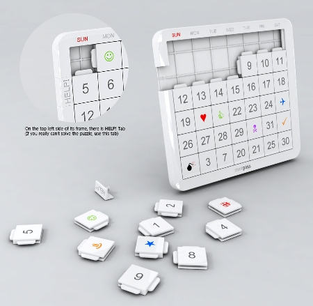 photo calendar design. 41 Puzzle Mint Calendar Design
