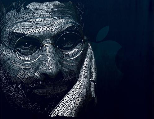 steve jobs font art birthday