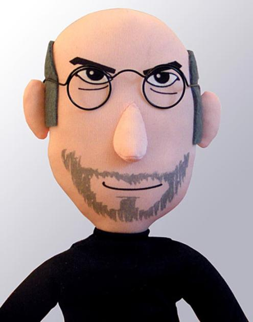 steve jobs plush doll birthday
