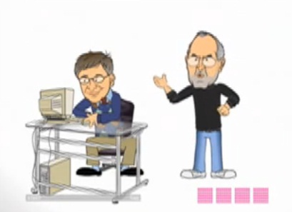 steve jobs vs. bill gates birthday